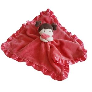 Baby Rattle Security Blanket Girl Plush Pink